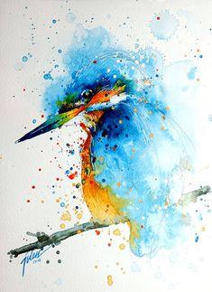 Colorful Splashed Watercolor Animals Paintings – Fubiz Media #inspiration #paintings www.agencyattorneys.com