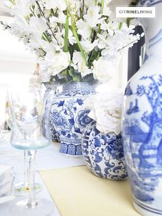 DINING ROOM IN BLOOM – CITRINELIVING A fresh take on a Spring tablescape - go faux!