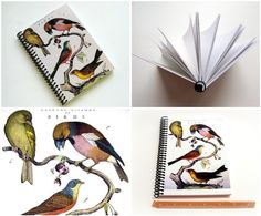Birds  Spiral Notebook 5 x 7 by Ciaffi on Etsy, $15.00