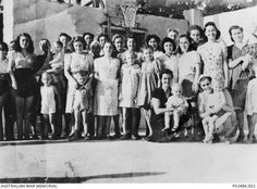 Sulphur Springs, Philippines. 1942. American civilians prior to being sent to Santo Tomas.
