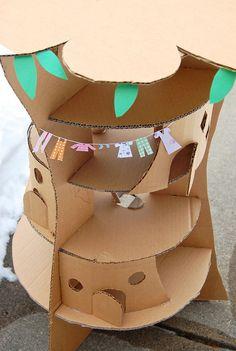 ikatbag: Enid Blyton's Faraway Tree in cardboard - tutorial. Also published in Family Fun Oct 2011.