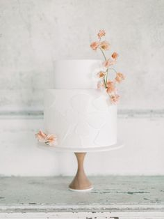 bridal, fall, autumn, winter, summer, wedding, design, bride, menu, cake, decoration, decor, tablescape, florals, beautiful, unique, ideas, flowers, romantic, details, favors, fine art, aesthetic, inspiration, sophisticated, style, floral, blush, white, blue, rose, greenery, plates, chargers, taper, pillar, votive, cake stand, buttercream, fondant, sugar flowers Blush Pink Wedding Cake, Floral Wedding Cakes, Blush Pink Weddings, White Wedding Cakes, Elegant Wedding Cakes, Wedding Cake Designs, Wedding Desserts, Romantic Weddings, Wedding Cake Two Tier