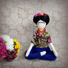 Muñeca de trapo muñeca de trapo muñeca de Frida Kahlo Frida
