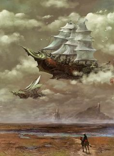 Steampunk Tendencies | Airship by Wang Chunayng. Get Inspired Today! Introducing Moire Studios  ❃ || Feel Free to Follow us @moirestudiosjkt for more amazing pins like this. Or visit our website www.moirestudiosjkt.com to know more about us. || ❃ #illustrations #digitalIllustration #drawings