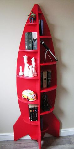 Extraordinary Wood Working Joints Ideas Unusual Modern Rocket Shaped Childrens Bookcase / Shelving Unit / Novelty in Home, Furniture & DIY, Furniture, Bookcases, Shelving & Storage Diy Kids Furniture, Furniture Design, Pallet Furniture, Bedroom Furniture, Furniture Chairs, Furniture Plans, Luxury Furniture, Mission Furniture, Pallet Couch