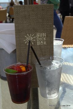 The Sun Deck Grill also serves non-alcoholic and alcoholic drinks they are open daily from 11:00am to 4:00pm