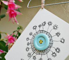 Cute button cards