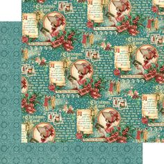 """*PRE-ORDER* Graphic 45 - A Christmas Carol Collection - 12""""x12"""" cardstock - Seasonal Sentiments"""