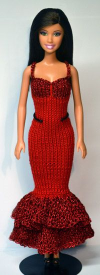 link to over 1000 knit patterns for Barbie dolls - knit but can use for inspiration