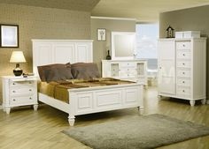 Bedroom Decorating Ideas With White Furniture king size bedroom sets | bedroom sets | pinterest | king size