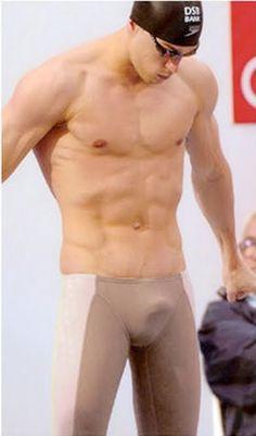 Michael Phelps.. who chose those trunks!