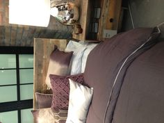 Barnwood bed and nightstand from west elm