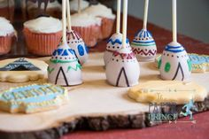 Teepee Cake Pops from a Rustic Cowboys & Indians Birthday Party via Kara's Party Ideas | KarasPartyIdeas.com (28)