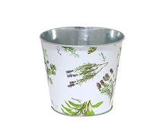 Herb Print Flower Pot $8