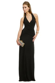 Simple light weight but long length halter, Carlos Miele Catarina Bombshell Gown ($115 to rent)