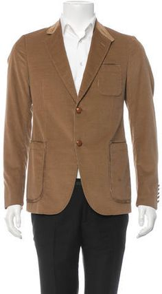 $185, Gucci Blazer. Sold by TheRealReal. Click for more info: https://lookastic.com/men/shop_items/282204/redirect