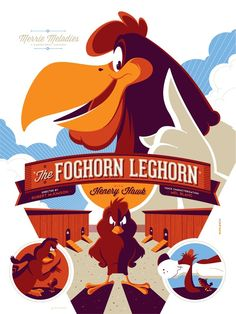 Image of THE FOGHORN LEGHORN screenprint