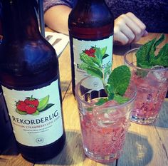 Rekorderlig with fresh mint, ice and company. Perfect.