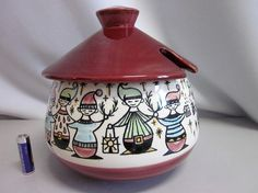 Anita Nylund JIE GANTOFTA Swedish ceramic tureen lidded box 50s 60s modernist