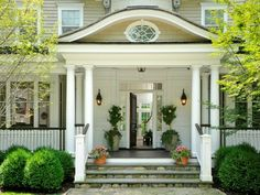 Great Front Door and Entrance Desgn. Classic and elegant front door design.