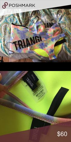 "TRIANGL bikini Bought for an upcoming vacation I'm going on and sadly does not fit me how I want it to  😭😭😭 bought from another posher and it IS new and authentic, never been worn (I tried it on while wearing a thong). Would like to get what I paid for it! It is the ""Bibi - Coral"" bikini, full price is $79, both the top and bottom are a size small! triangl swimwear Swim Bikinis"