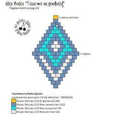 Tutorial Brick stitch weaving Level 2 Alice Balice sewing and DIY creative hobbies Bead Embroidery Patterns, Peyote Stitch Patterns, Beading Patterns Free, Seed Bead Patterns, Beaded Embroidery, Weaving Patterns, Seed Bead Crafts, Beaded Crafts, Seed Bead Tutorials