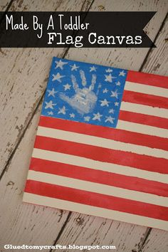Kids flag crafts. 4th of July.