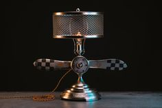 Aviation Propeller Lamp  Table Light  Airplane by Timberson
