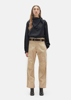 Exposed Dart Denim Trousers by Maison Margiela- La Garçonne