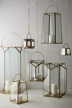 Available in a variety of metals, a few of these geometric lanterns ($10 and up) are what your patio deserves.