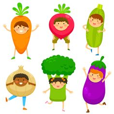 Guess Who I Am? Ask kids to think of a vegetable or a fruit, but keep their choice to themselves. Ask each child, one at a time, to stand in front of the other children, pretending that they are that vegetable or fruit, and describe themselves to the other children. The goal is for the other children to guess what healthy food the child is pretending to be. kids adventures.org