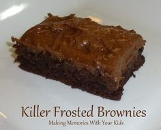 Killer Frosted Brownies