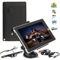 7 Inch 4GB AV/IN MP3 Bluetooth Touch Truck Navigation GPS +IR Reversing Camera
