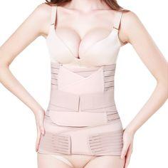 Tirain 3 in 1 Postpartum Support - Recover Belly/waist/pelvis Belt Shapewear (Nude)