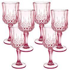 Lisa T Christmas Baroque Wine Glass Set of 6 - Blush