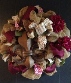 Spring Wreath from Deborah's Wreaths www.facebool.com/DeborahsWreaths