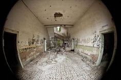 Poveglia by U1D2X, via Flickr ~ abandoned island near Venice (presumably the asylum, as it was the only large building on the island)