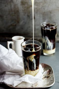 This link doesn't really lead anywhere, but it looks like vietnamese iced coffee with the condensed milk....Cafe Su Da....I love that stuff.