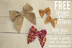 NEW Bow PDF pattern bundle school girl bow pattern sailor Fabric Hair Bows, Diy Hair Bows, Diy Bow, Flower Fabric, Ribbon Hair, Fabric Bow Tutorial, Hair Bow Tutorial, Flower Tutorial, Sewing Tutorials