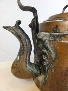 Antique Copper Tea Pot