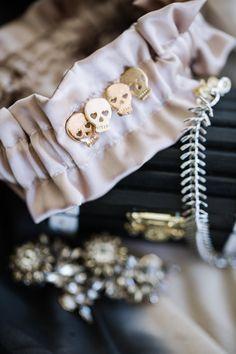 Photography: Whitney Lane Photography - whitneylanephotography.com  Read More: http://www.stylemepretty.com/canada-weddings/2014/10/31/rock-romance-skull-detailed-vancouver-wedding/