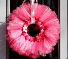 How to make the Tulle Wreath & see http://thatswhatwesaid.net/2012/01/valentines-day-tulle-wreath/#
