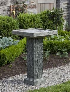 Reef Point cast stone Birdbath made by Campania International