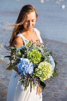 Rich Hydrangea Bouquet Wedding