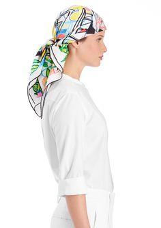"36"" x 36"" scarf Hermès | Modernisme tropical"