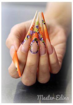 Acrylic stiletto Nails