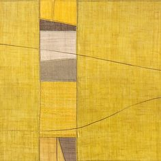 """""""Over the Valley 1"""" - Natural dyes including tumeric by Lee Hyun Joo @ArtBojagi"""
