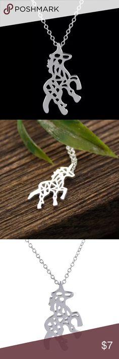 Charming Silver Plated Unicorn/Horse Pendant N/L Charming Silver Plated Unicorn/Horse Pendant Necklace Pendant Size14.7mm x 20.6mm Style Bohemia Origami  Necklace Type Pendant Necklaces Jewelry Necklaces
