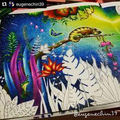 Livro: Selva Mágica (Johanna Basford)  Pintado por: @eugenechin39  #topcoloridos…