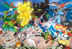 jigsaw puzzle Pokemon XY & Z violently burning Pokemon Battle! Large piece w/tracking number by JP post. jigsaw puzzle Pokemon XY & Z violently burning Pokemon Battle! Pokemon Team, Pokemon Live, Digimon Cosplay, Pokemon Kalos, Pokemon Eeveelutions, Pokemon Movies, Pokemon Stuff, Pikachu Pikachu, Jigsaw Puzzle